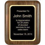 Elliptical Solid Walnut Plaque Achievement Awards