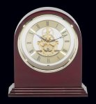 Plymouth Rosewood Piano Finish Desktop Clock Arch Awards