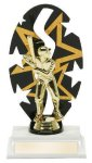 Baseball Male Backdrop Trophy Backdrop Trophies
