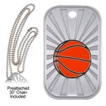 Basketball Dog Tag Basketball Trophy Awards
