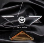 Gold Spectra Star Award Colored Acrylic Awards