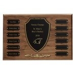 Cast Bronze Trim Perpetual Plaque Employee Awards