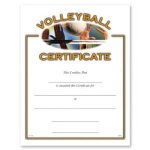 Volleyball Fill in the Blank Certificates