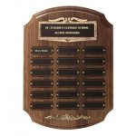 Bronze Framed Perpetual Plaques Fire and Safety Awards