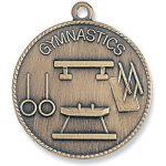 Gymnastics Medal Bronze Gymnastics Trophy Awards