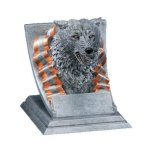 Wolf Mascot Mascot Resin Trophy Awards