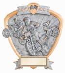 Signature Series Motocross Shield Award Moto-Cross Trophy Awards