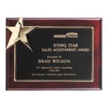 Corner Star Plaque Piano Finish Plaques