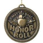Met My Goal Honor Roll Value Medal Awards