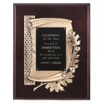 Antique Bronze Oak Leaf Plaque Wreath Awards